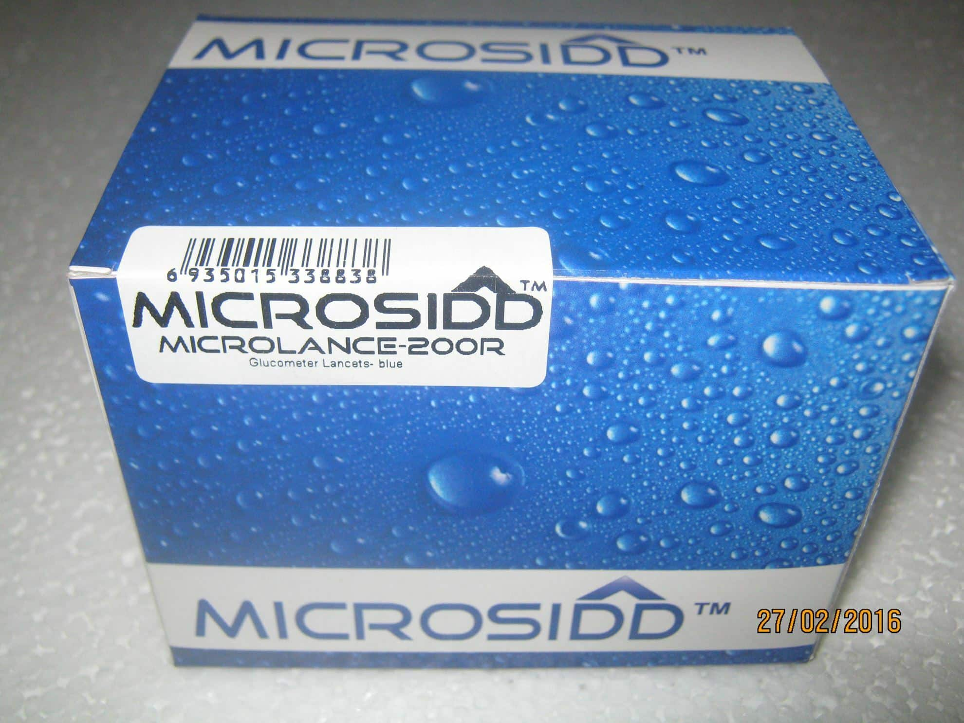 MICROLANCE-200R, Round blue glucometer lancets compatible with Oncall plus Dr Morepen Accusure Omron